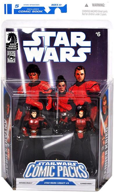 Star Wars Expanded Universe Comic Packs 2009 Antares Draco & Ganner Krieg Action Figure 2-Pack #6