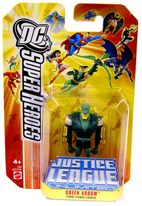 DC Justice League Unlimited Super Heroes Green Arrow Action Figure [Yellow Card]