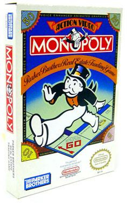 Nintendo NES Monopoly Video Game Cartridge [Opened, Complete]