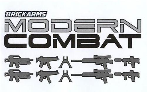 BrickArms Modern Combat 2.5-Inch Weapons Pack [Gunmetal]