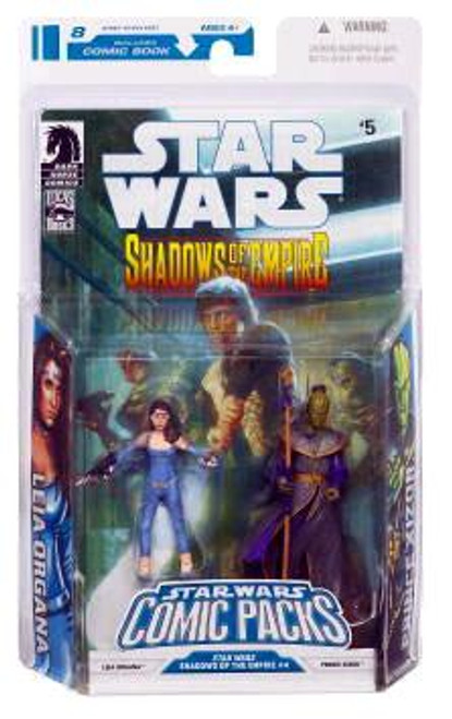 Star Wars Expanded Universe Comic Packs 2009 Leia Organa & Prince Xizor Action Figure 2-Pack #5