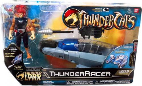 Thundercats Thunder Lynx Basic ThunderRacer Action Figure Vehicle [Red Hair]
