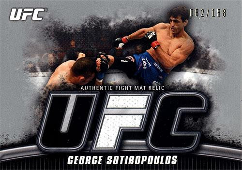 UFC 2010 Knockout Silver Mat Relic George Sotiropoulos FM-GS