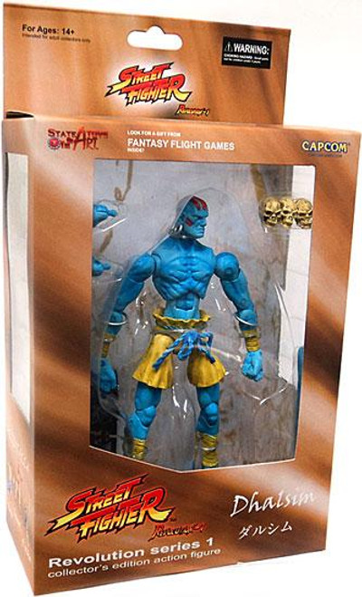 Street Fighter Revolution Series 1 Dhalsim Action Figure [Blue Skin]