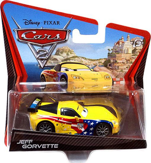 Disney Cars Cars 2 Main Series Jeff Gorvette Diecast Car [Wide Card]