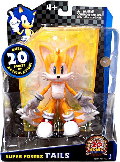 Sonic The Hedgehog 20th Anniversary Super Posers Tails Action Figure