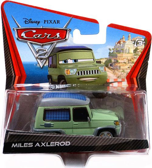 Disney Cars Cars 2 Main Series Miles Axlerod Diecast Car [Wide Card]