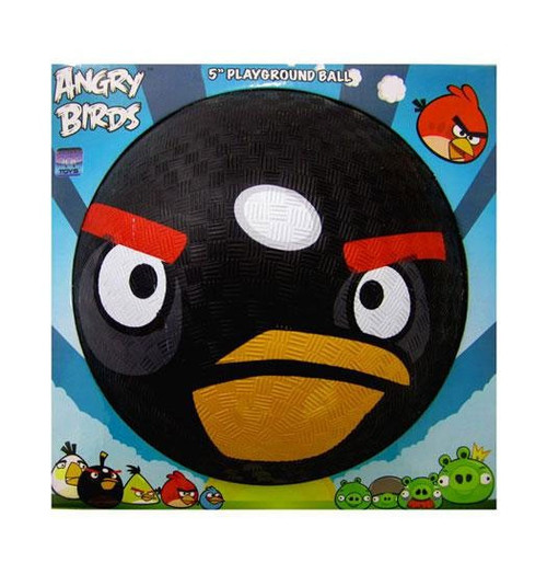 Angry Birds Black Bird 5-Inch Rubber Playground Ball