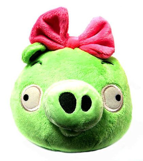 Angry Birds Neutral Girl Pig 8-Inch Plush [With Sound]