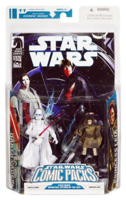 Star Wars Return of the Jedi Comic Packs 2009 Darth Vader [White] & Princess Leia Action Figure 2-Pack