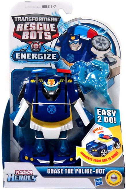 Transformers Rescue Bots Playskool Heroes Chase The Police-Bot Action Figure [Energize]