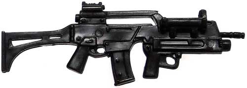 GI Joe Loose Weapons G36 Assault Rifle with Underslung Grenade Launcher Action Figure Accessory [Black, v2 Loose]