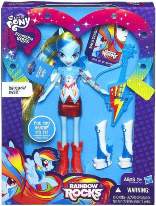 My Little Pony Equestria Girls Rainbow Rocks Deluxe Rainbow Dash 9-Inch Doll [Stamp]