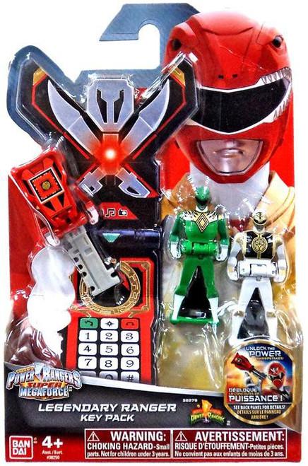 Power Rangers Super Megaforce Legendary Ranger Key Pack Roleplay Toy [Mighty Morphin, Green & White]