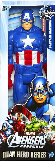 Marvel Avengers Assemble Titan Hero Series Captain America Action Figure