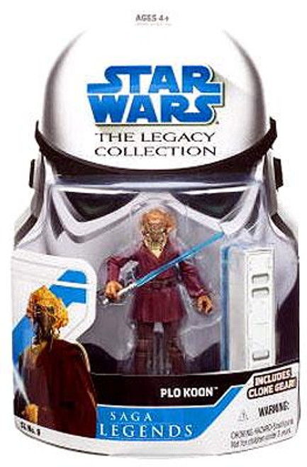 Star Wars Revenge of the Sith Legacy Collection 2008 Saga Legends Plo Koon Action Figure SL09