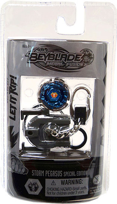 Beyblade Metal Fusion Chrome Series 1 Storm Pegasus Keychain