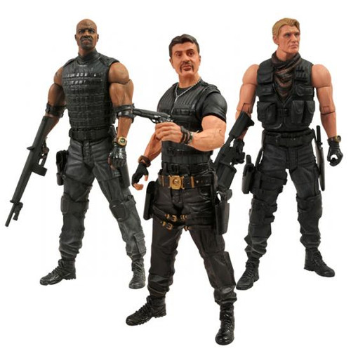 The Expendables 2 Set of 3 Action Figures
