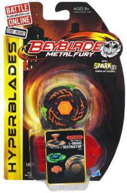 Beyblade Metal Fury Hyperblades Attack L-Drago Destructor Single Pack BB-108-FX