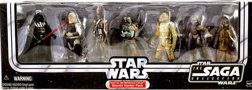 Star Wars The Empire Strikes Back Saga Collection 2006 Hunt for the Millennium Falcon Bounty Hunter Pack Exclusive Action Figure Set