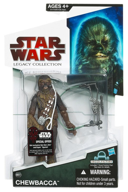 Star Wars A New Hope Legacy Collection 2009 Droid Factory Chewbacca Action Figure BD31 [With Headset]