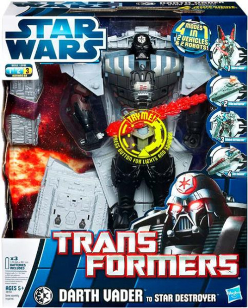 Star Wars The Empire Strikes Back Transformers 2012 Darth Vader to Star Destroyer Action Figure [Version 1]