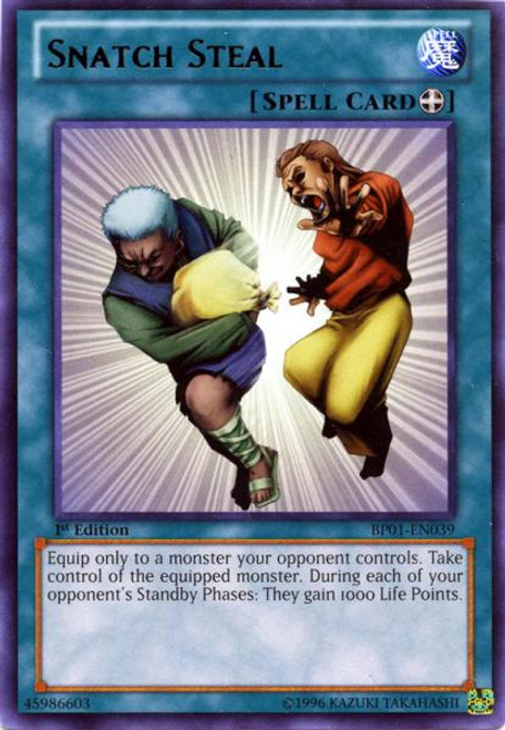 YuGiOh Battle Pack: Epic Dawn Rare Snatch Steal BP01-EN039