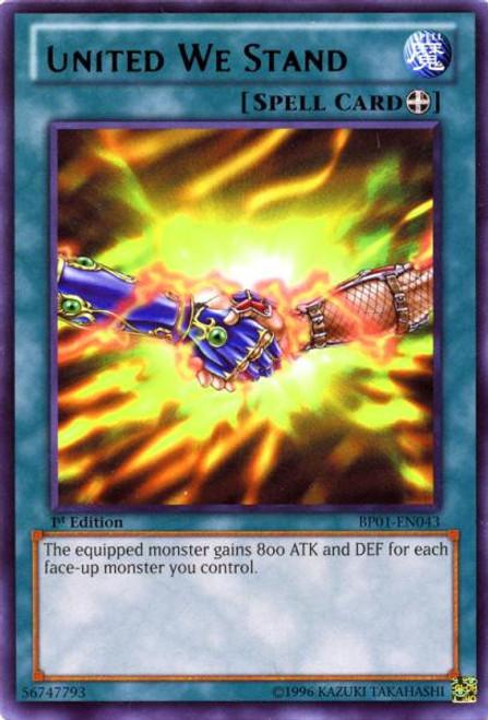 YuGiOh Battle Pack: Epic Dawn Rare United We Stand BP01-EN043