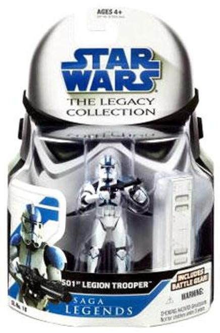 Star Wars Revenge of the Sith Legacy Collection 2008 Saga Legends 501st Legion Trooper Action Figure SL16