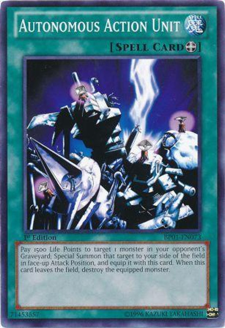 YuGiOh Battle Pack: Epic Dawn Common Autonomous Action Unit BP01-EN073