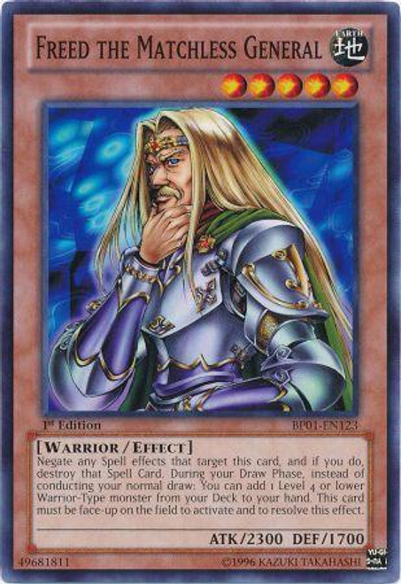 YuGiOh Battle Pack: Epic Dawn Common Freed the Matchless General BP01-EN123
