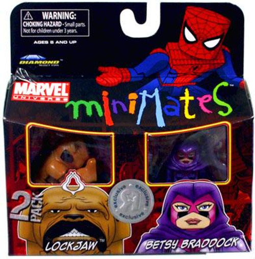 Marvel Universe Minimates Exclusives Lockjaw & Betsy Braddock Exclusive Minifigure 2-Pack