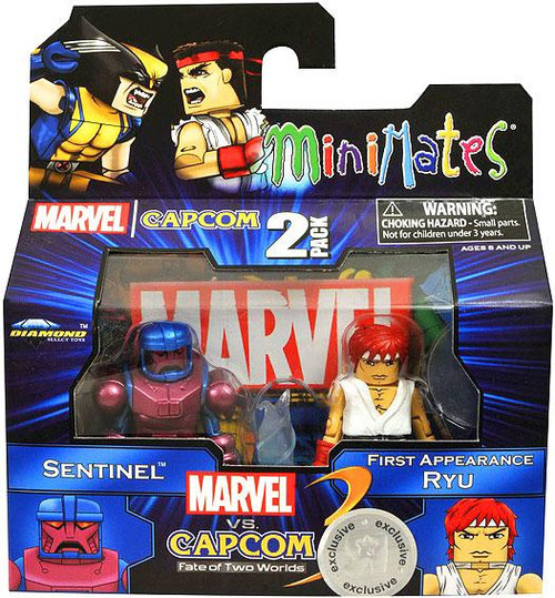 Marvel vs Capcom 3 Minimates Series 2 Sentinel Vs. Ryu Exclusive Minifigure 2-Pack