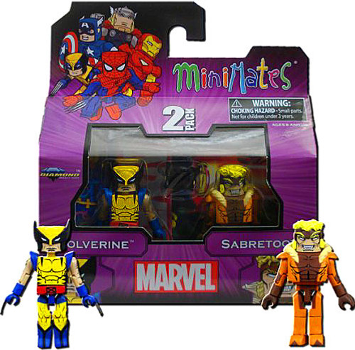 Marvel Minimates Best of Series 1 Wolverine & Sabretooth Minifigure 2-Pack