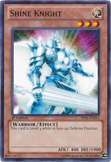 YuGiOh Battle Pack: Epic Dawn Common Shine Knight BP01-EN217