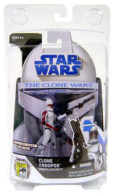 Star Wars The Clone Wars Clone Wars 2008 Clone Trooper Senate Security Exclusive Action Figure