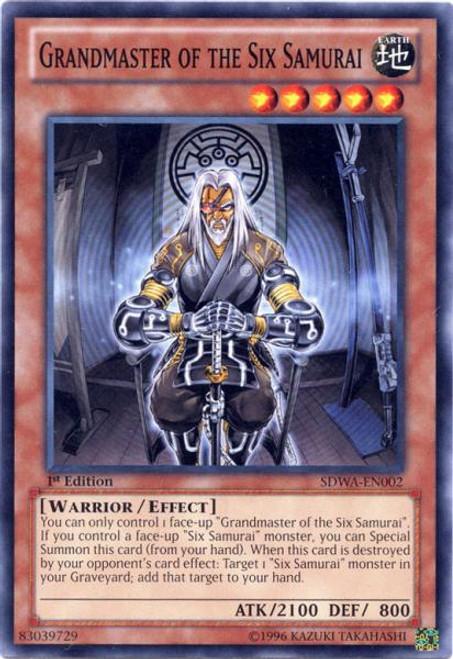 YuGiOh Zexal Samurai Warlords Structure Deck Common Grandmaster of the Six Samurai SDWA-EN002