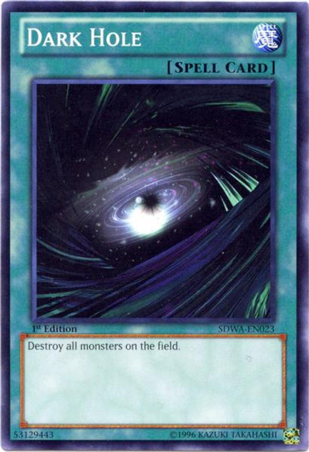 YuGiOh Zexal Samurai Warlords Structure Deck Common Dark Hole SDWA-EN023