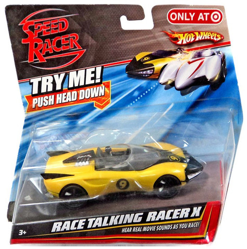 Speed Racer Hot Wheels Race Talking Racer X Exclusive Diecast Vehicle