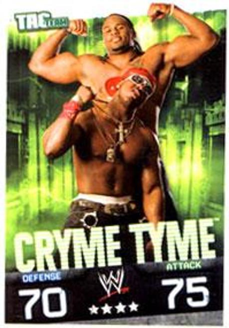 WWE Wrestling Slam Attax Evolution Series 1 Tag Team Base Card Cryme Tyme