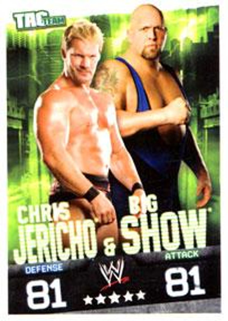 WWE Wrestling Slam Attax Evolution Series 1 Tag Team Base Card Chris Jericho & Big Show