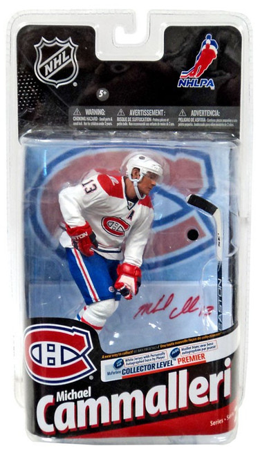 McFarlane Toys NHL Montreal Canadiens Sports Picks Series 24 Michael Cammalleri Action Figure [White Jersey with Signature]