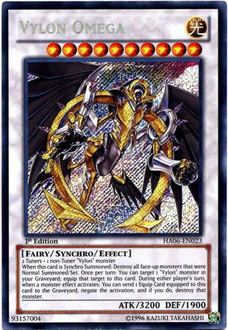 YuGiOh Zexal Hidden Arsenal 6: Omega XYZ Secret Rare Vylon Omega HA06-EN023