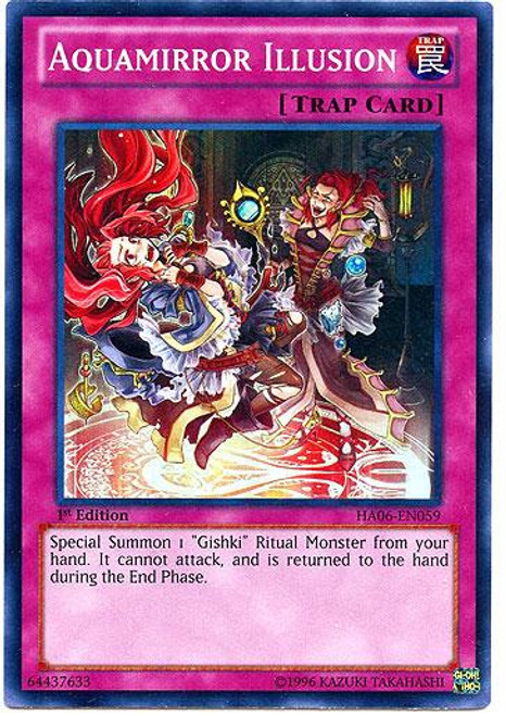 YuGiOh Zexal Hidden Arsenal 6: Omega XYZ Super Rare Aquamirror Illusion HA06-EN059