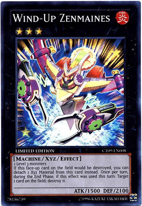 YuGiOh Holiday Tin Promo Super Rare Wind-Up Zenmaines CT09-EN008