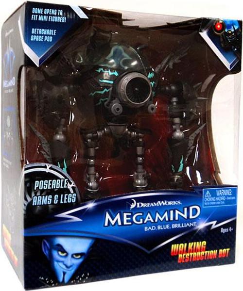 Megamind Walking Destruction Bot Action Figure [Poseable Arms & Legs]