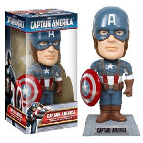 Funko The First Avenger Wacky Wobbler Captain America Bobble Head