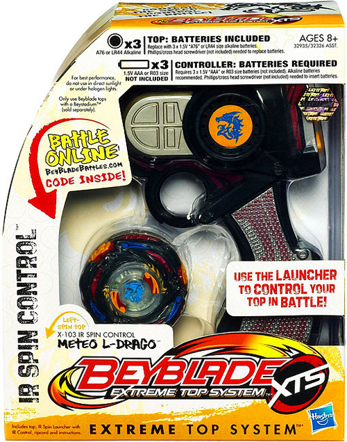 Beyblade XTS IR Spin Control Meteo L-Drago Single Pack X-103