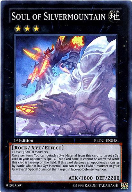 YuGiOh Zexal Return of the Duelist Super Rare Soul of Silvermountain REDU-EN048
