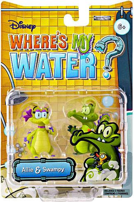 Where's My Water Allie & Swampy 2-Inch Mini Figure 2-Pack